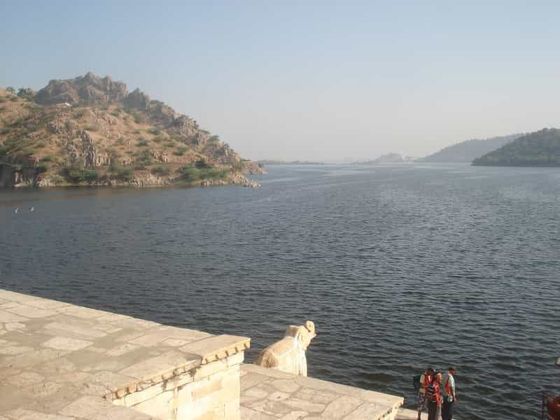 Dhebar or Jaisamand Lake at Udaipur