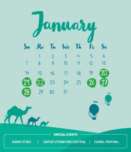 Long Weekends in January 2018