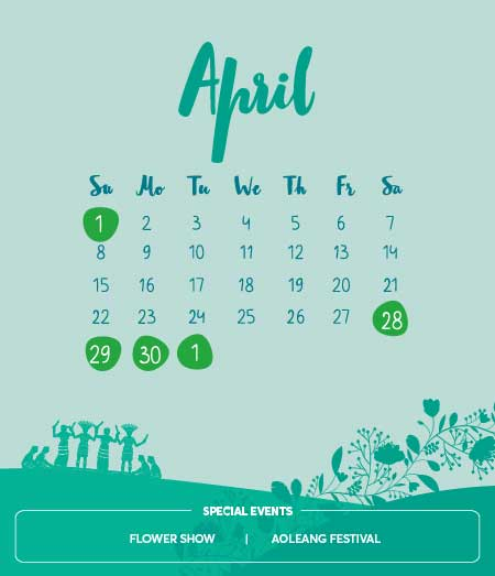 Long Weekends, April 2018