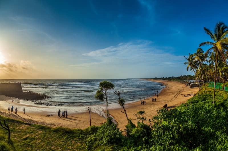 Candolim beach at Sunset
