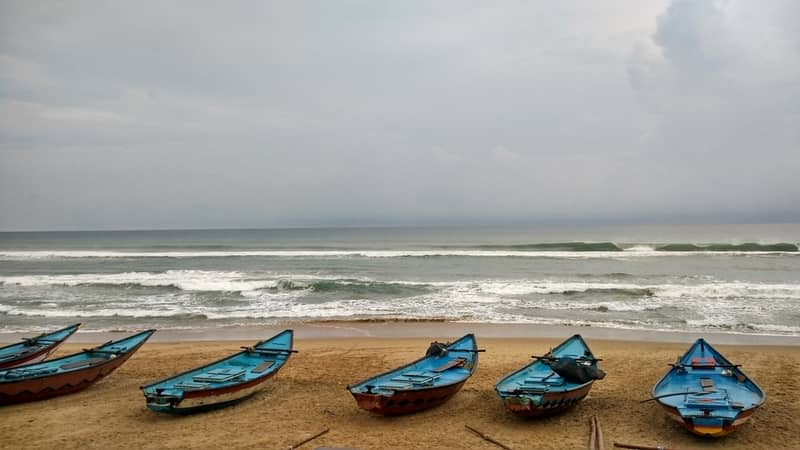 Gopalpur seashore in Odisha
