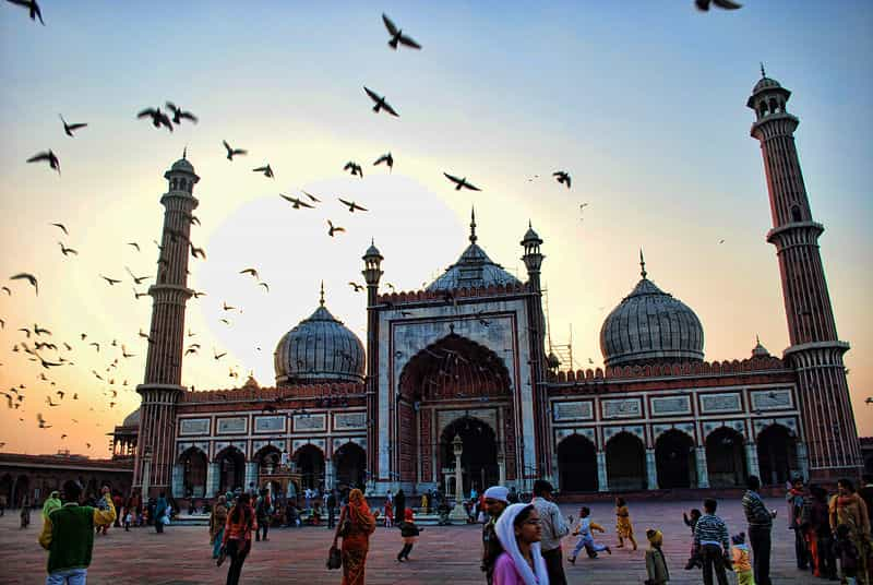 Jama Masjid in the evening