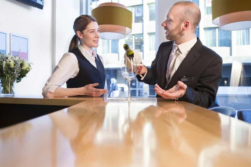 Man Friendly with Hotel Staff