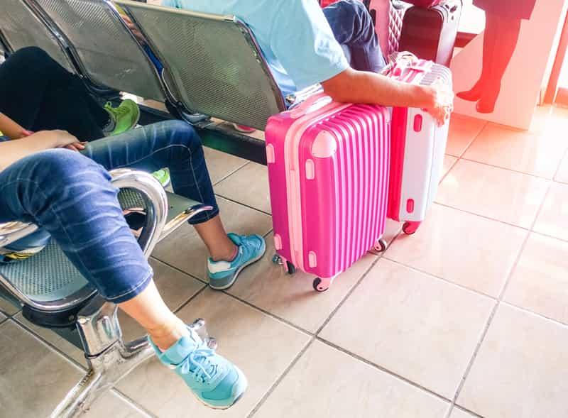 Man Taking Care of Luggage