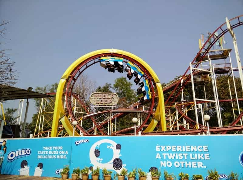 A roller coaster ride at Essel World
