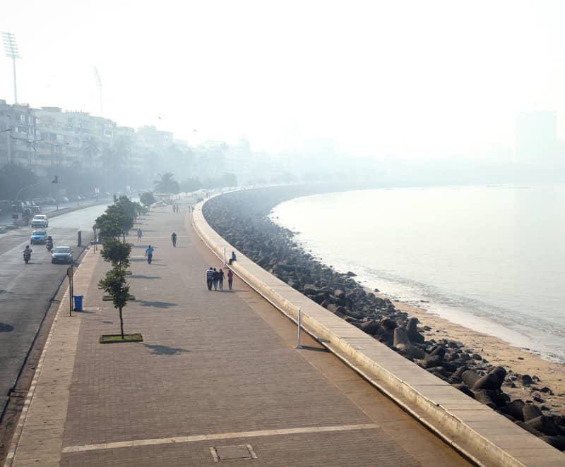 Breathe in the fresh sea breeze as you stroll along Marine Drive