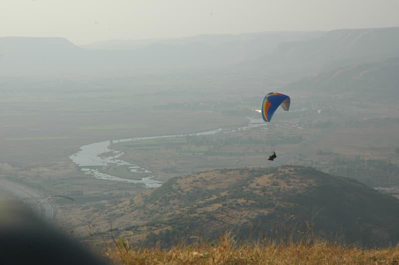 An enthusiasts taking of in the Paraglide