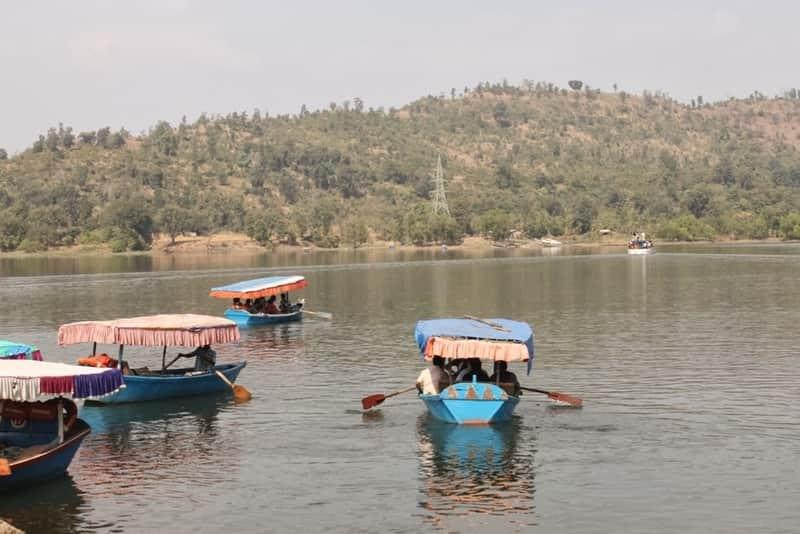 People enjoying boating rides in Silvassa