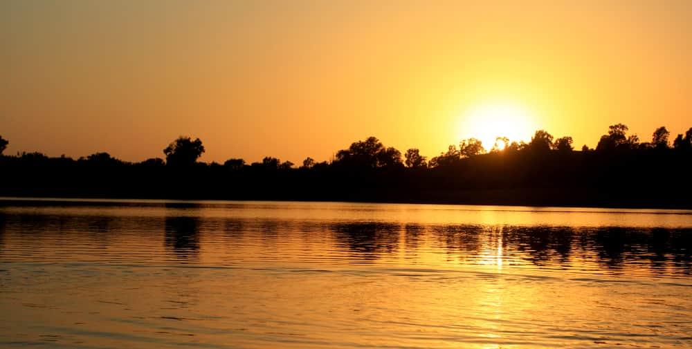 Sunset over Lake Vaitarna in Igatpuri
