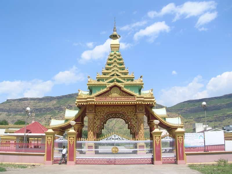 The Myanmar gate at Igatpuri is a famous tourist attraction