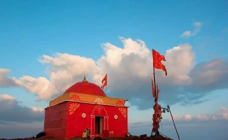 The temple at top of the Kalsubai Peak