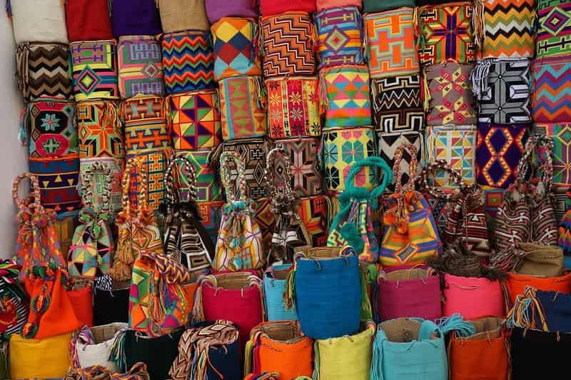 Apart from shoes, you will also find vibrant bags and clothes