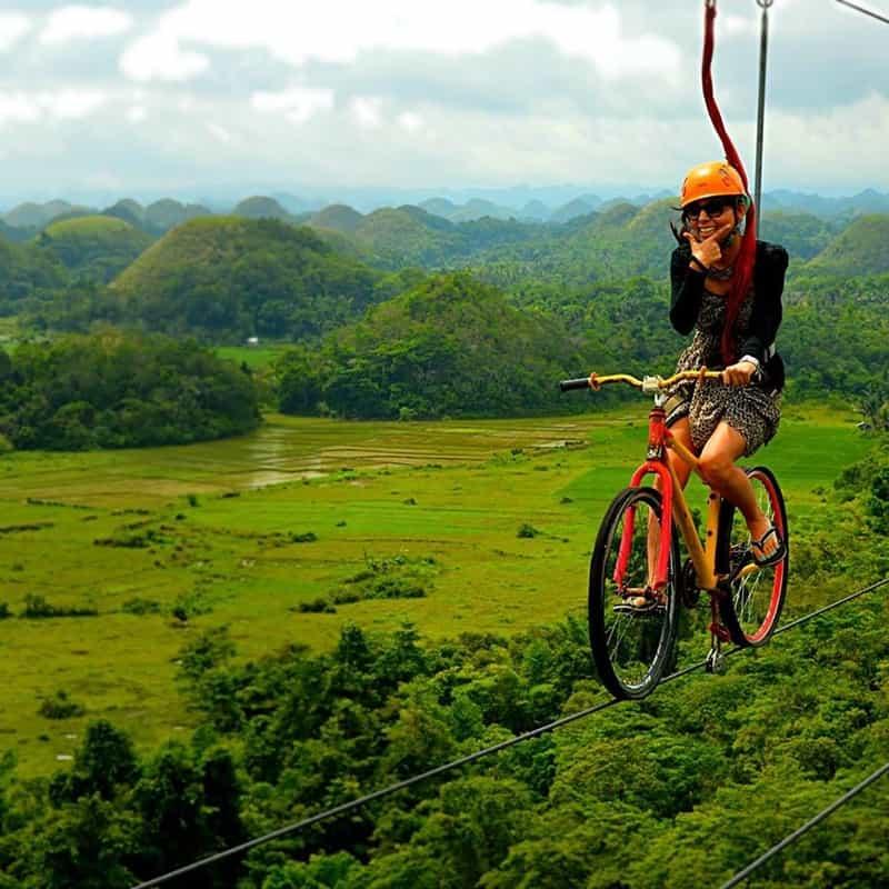 Archana Zipline Biking in Bohol, the Philippines
