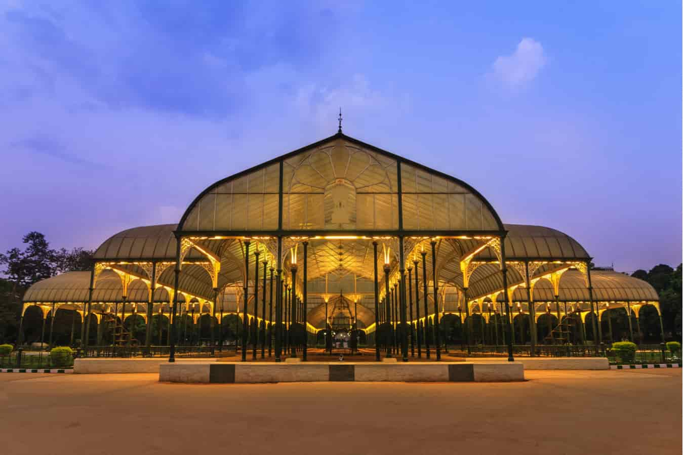 The Glass House at Lal Bagh is a great place to visit