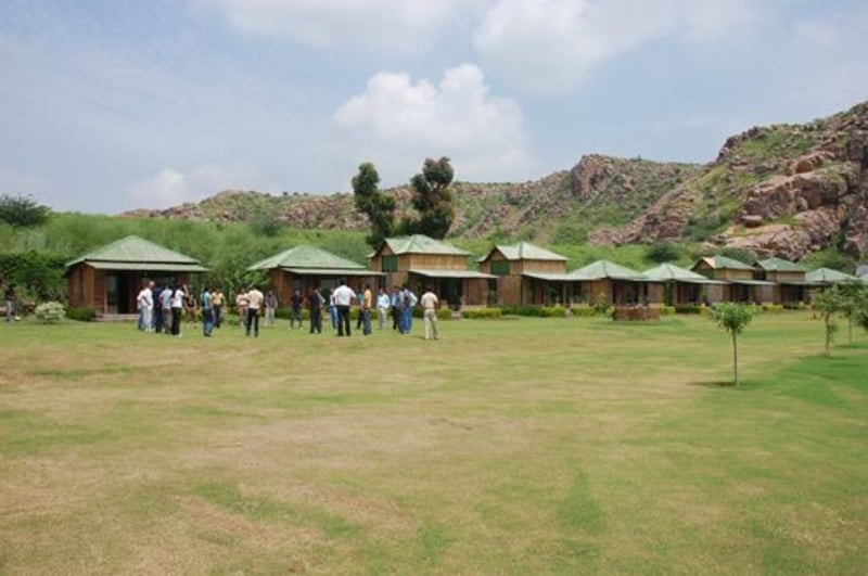 People ready to take part in the various activities at the camp