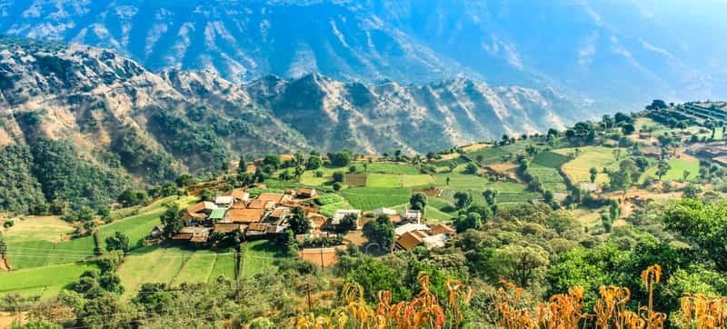 The Mahabaleshwar Hills landscape