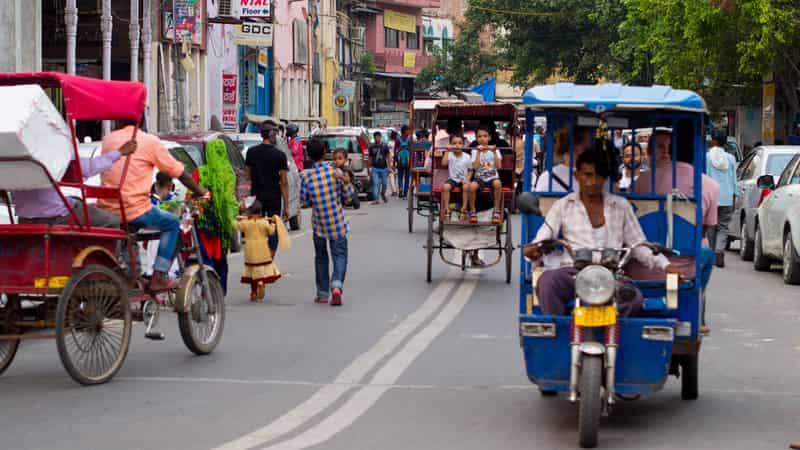 The auto rickshaw tour enroute