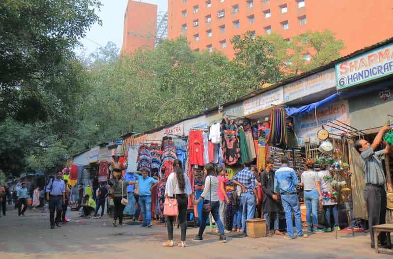 The crowds at Tibetan Street Market, Janpath