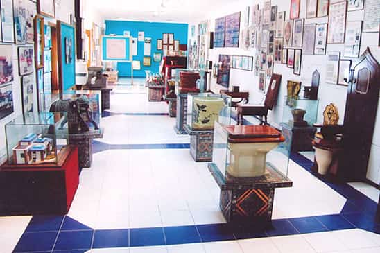 The famous toilets on display in the Museum