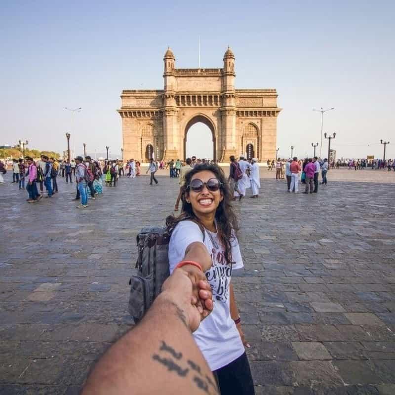 Trishita at the Gateway of India, Mumbai