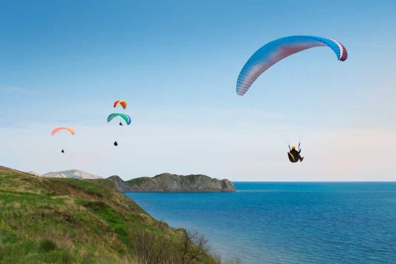 Paragliding over Dehradun