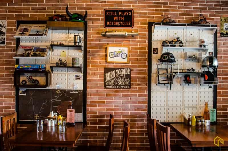 Bikers Café has an amazing selection of sandwiches