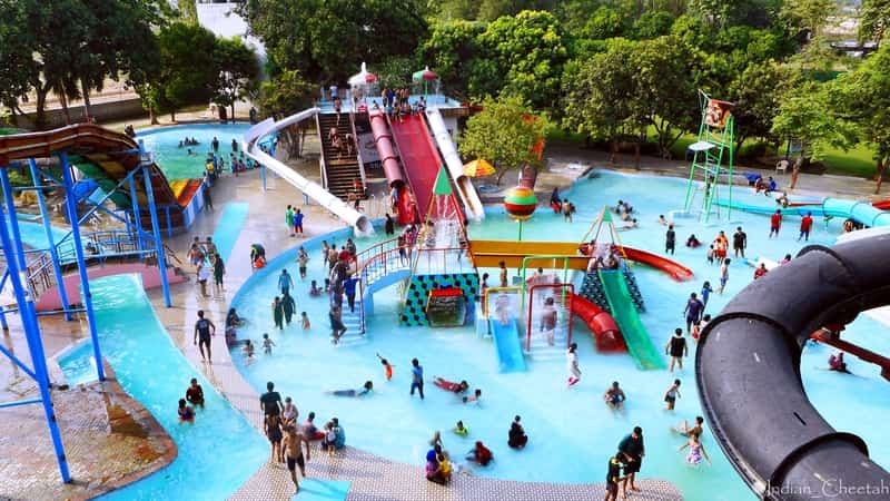 Cool off at a waterpark