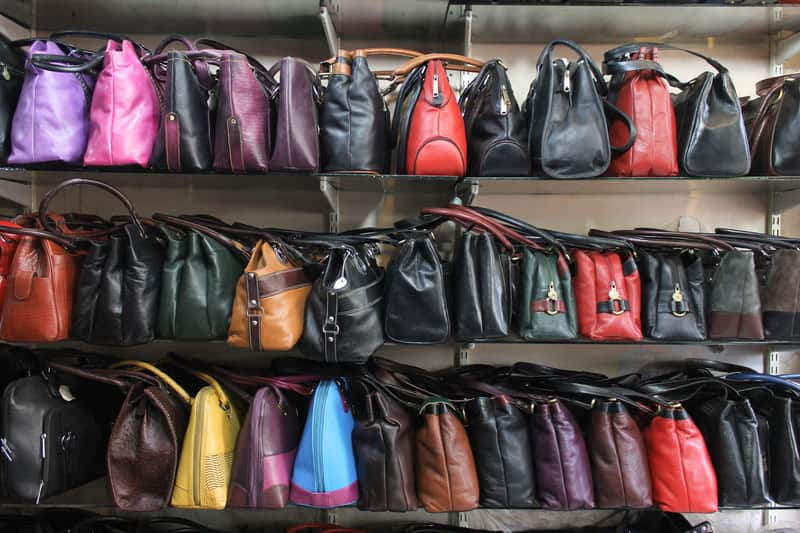 Dharavi Market has a good collection of bags and jackets