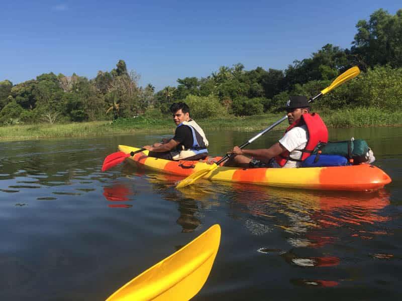 Kayaking at the Shambhavi