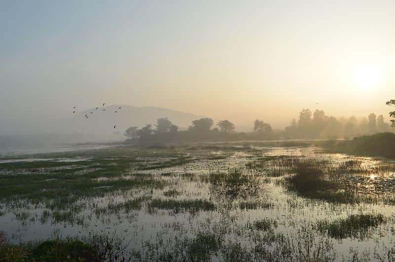 Sunrise near Kanakpura