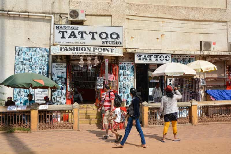 Tattoo Shop at Calangute Beach