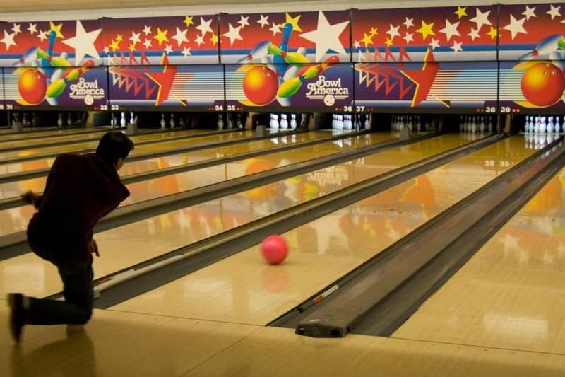 The Bowling Alley at the Amoeba Bar is a big hit with locals