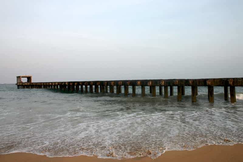 Thalankuppam Pier is a popular tourist spot