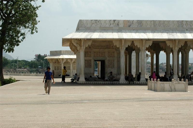 White marble pavillon, Ajmer