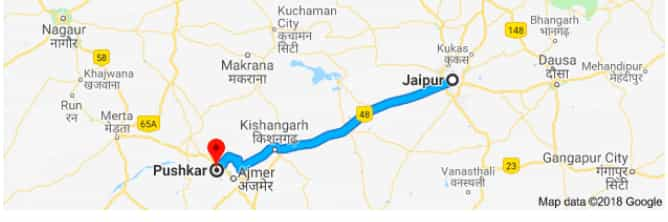 jaipur to pushkar