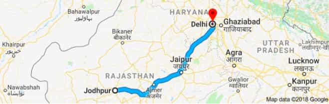 jodhpur to delhi