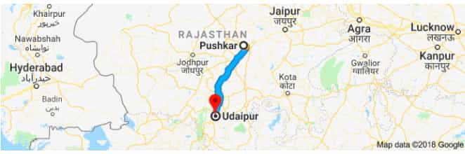 pushkar to udaipur