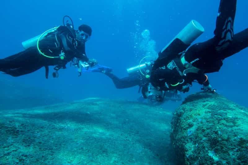 A scuba diver in Chennai