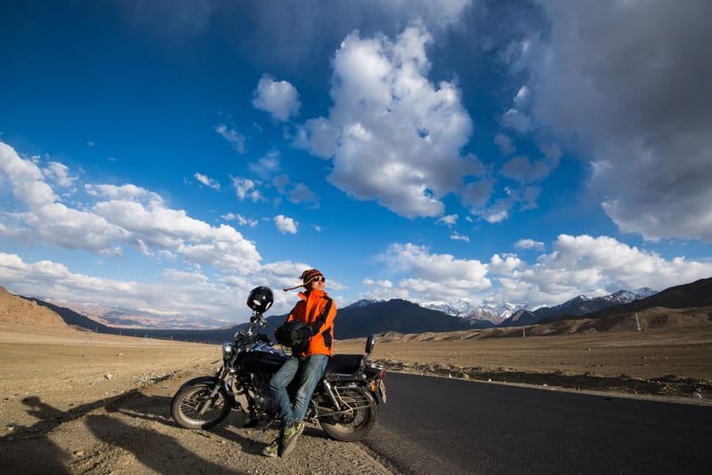 A Biker on a road trip to Leh Ladakh