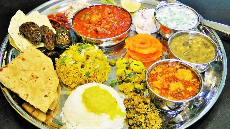 A Maharashtrian Thali