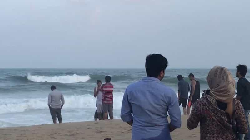 A couple at the Besant Nagar Beach