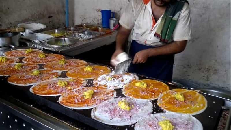 A dosa vendor in Bangalore