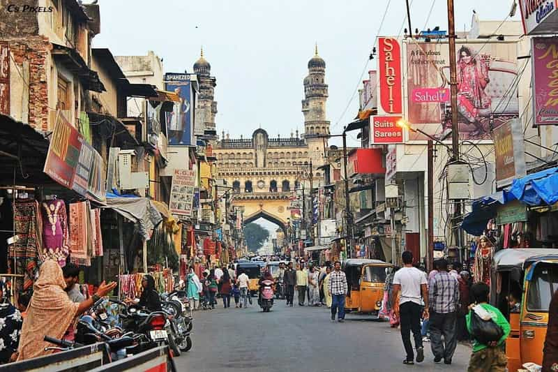 A famous bazaar near the Charminar