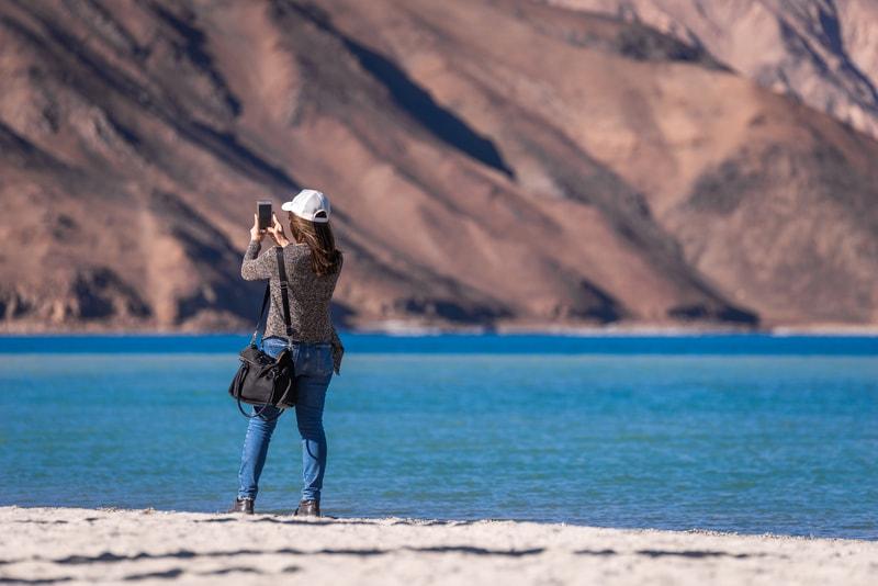 A tourist in Ladakh