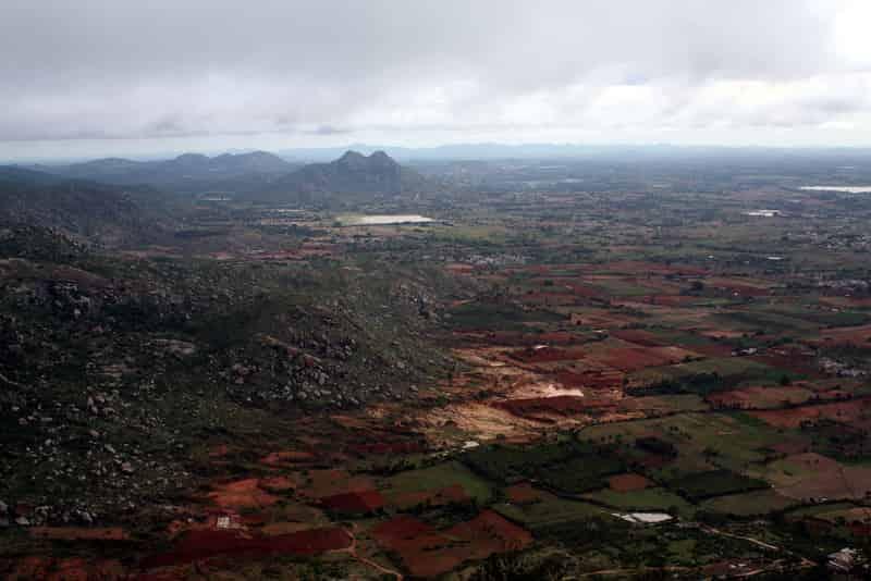 An Aerial View Of Skandagiri
