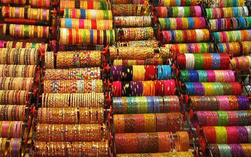 Bangles at the Choodi Bazaar