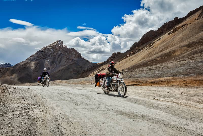 Bikers on their way to Leh-Ladakh from Delhi