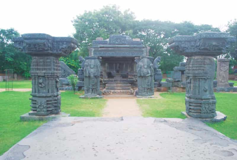 Carvings at the Warangal Fort