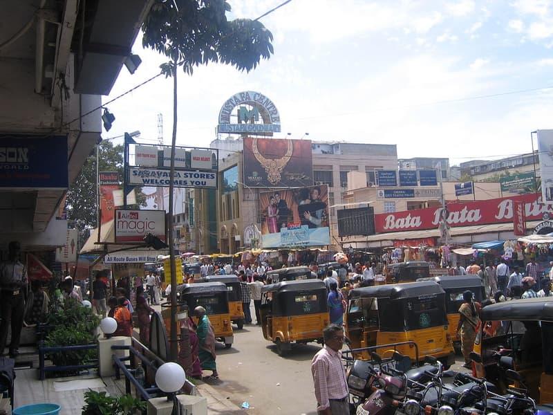 Crowded T Nagar market