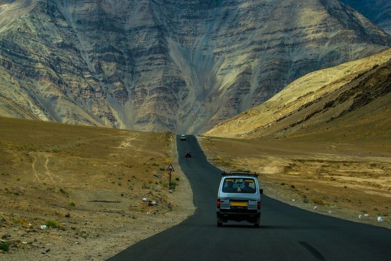 Driving down to Ladakh